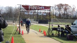 cyclocross race finish line
